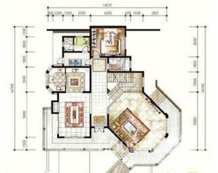 保利独栋别墅,地下室全采光,带花园450平米,双车库!