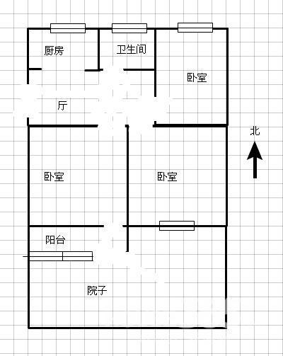 农村80平米三室一厅设计图带庭院图片