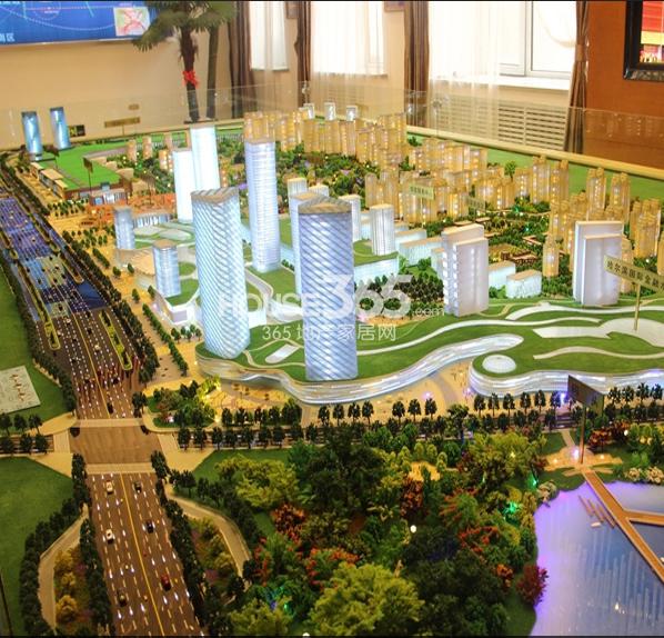 义乌城鸟瞰图