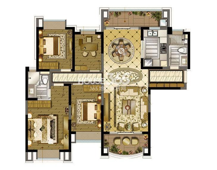 雅居乐中心广场A1户型图(售完)