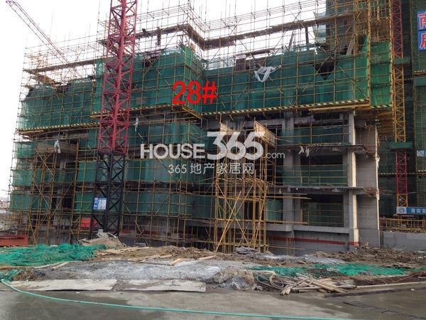 龙湖龙誉城28#楼工程进度图(2015.2)
