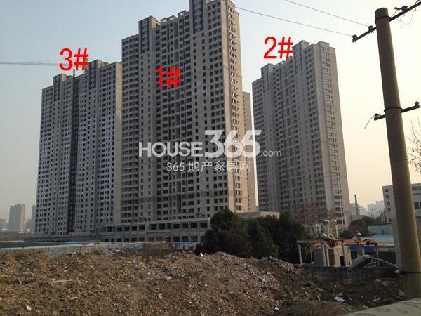 朗诗�园1-3#楼工程进度图(2015.2)