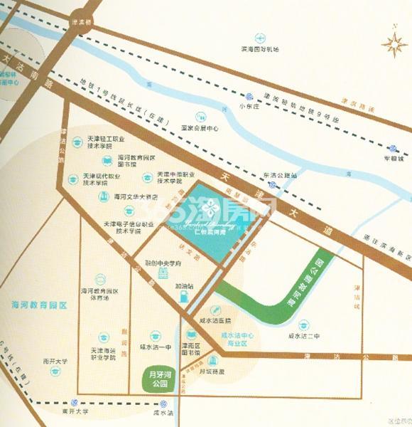仁恒滨河湾交通图