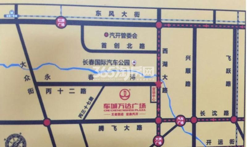 车城万达广场交通图