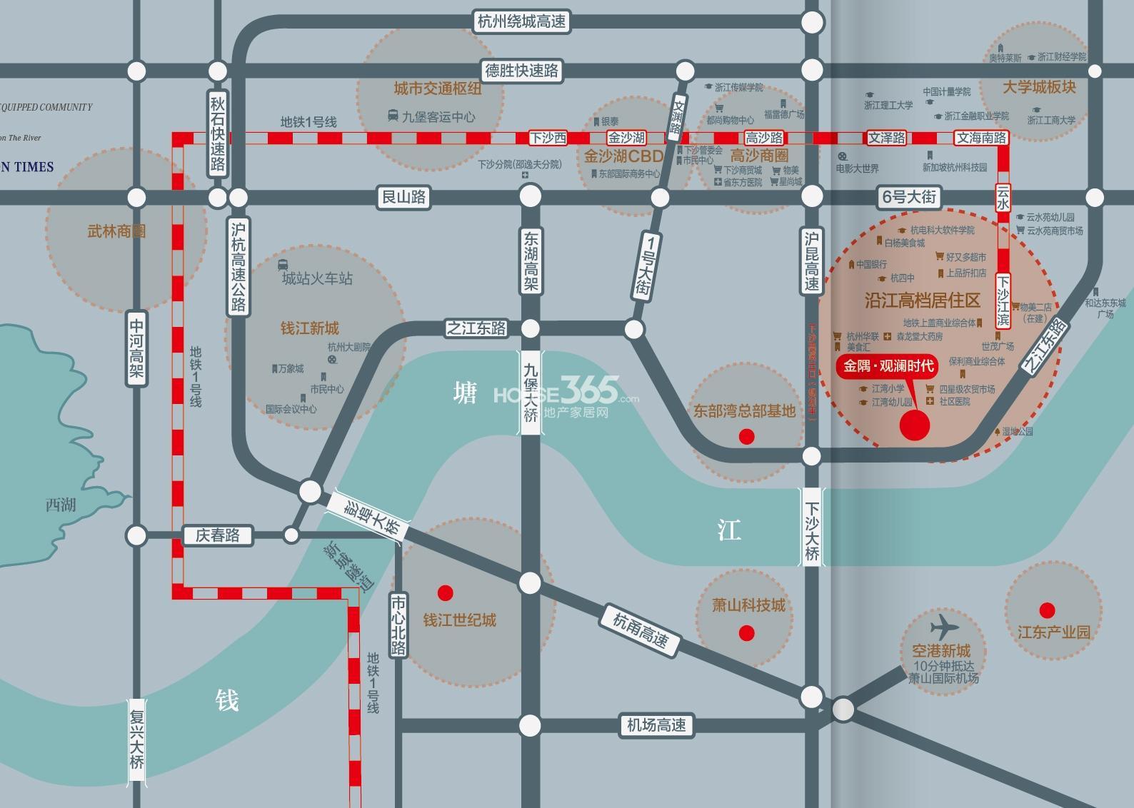金隅观澜时代交通图
