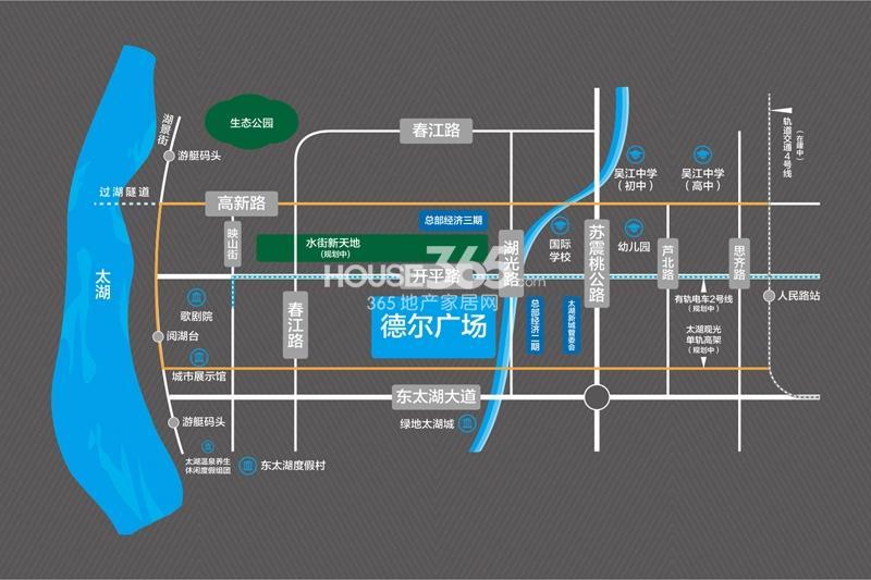 德尔广场交通图