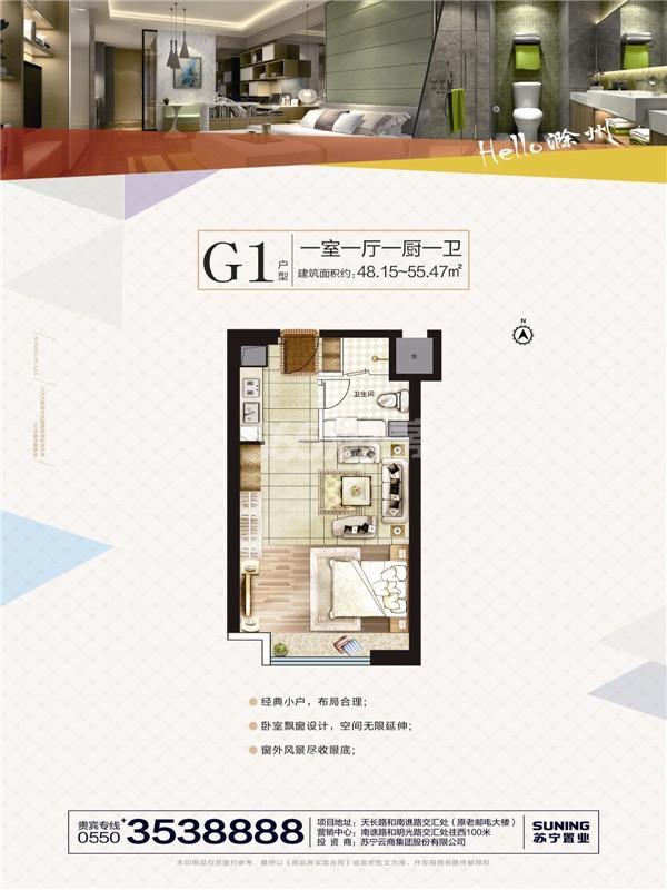 滁州苏宁广场户型图