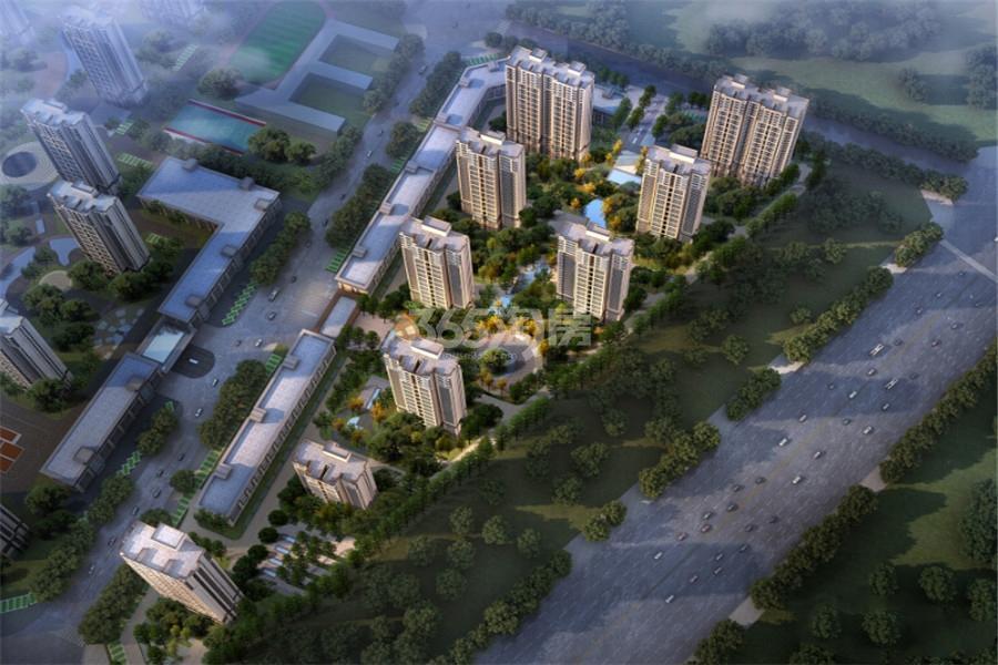 永威城东地块鸟瞰图
