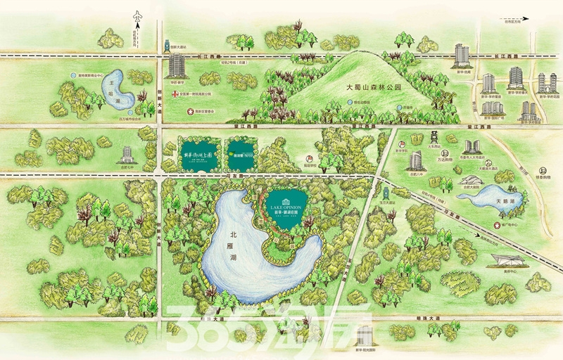 新华御湖公寓交通图