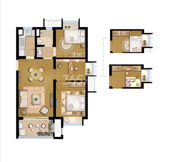 招商学府1872高层B1-77平2+1室
