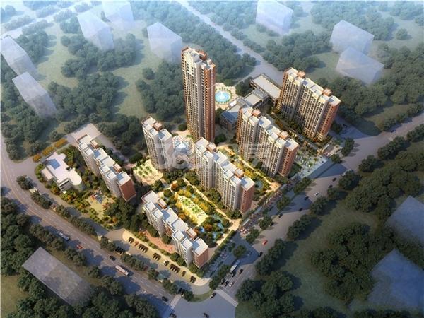 中国核建锦城鸟瞰图