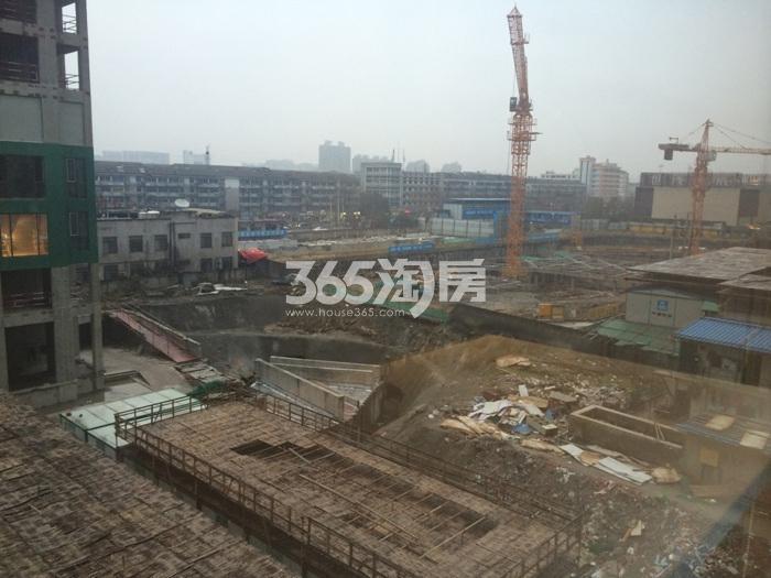 滨江华家池施工实景图 2016年1月摄