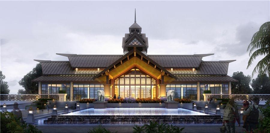 蓝光青城河谷国际度假区效果图