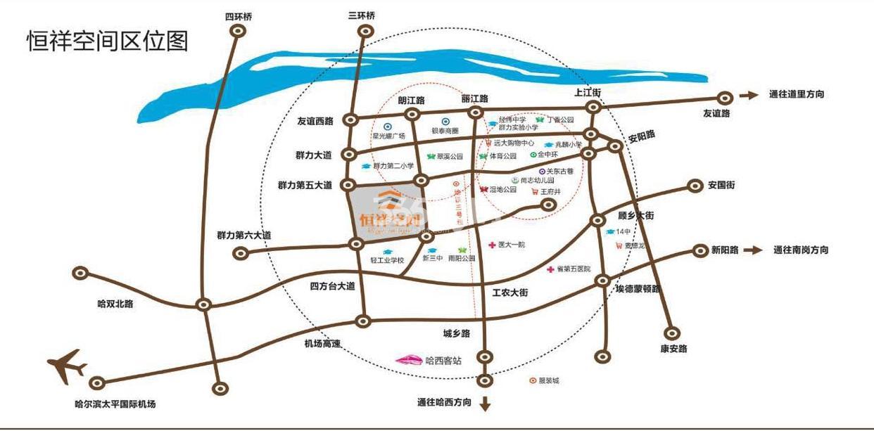 恒祥空间交通图