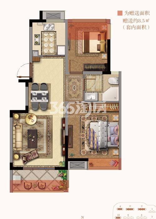 银亿东城9街区新洋房B2户型图