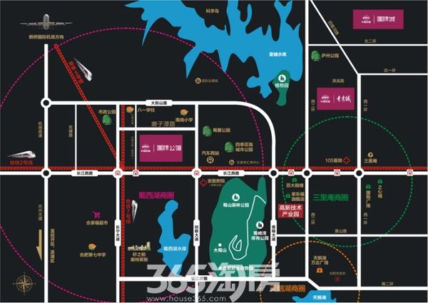 中国铁建国际公馆交通图