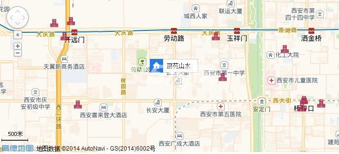 丽苑山水交通图