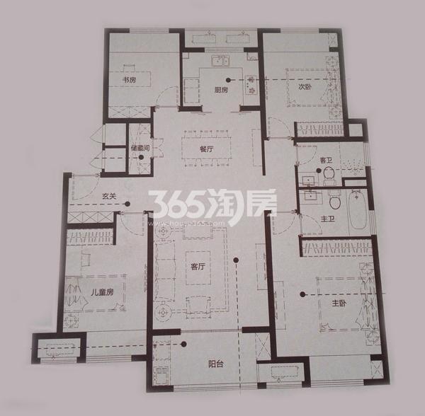 Y4-1四室两厅两卫户型