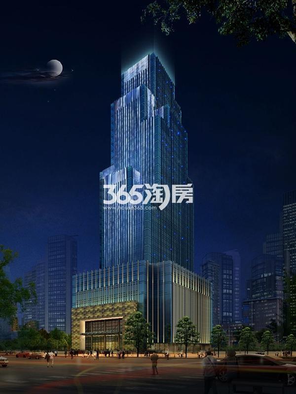 新合作中商大厦夜景亮化瀑布