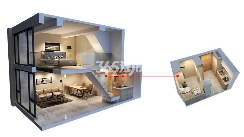 海峡城A7公寓下叠户型图