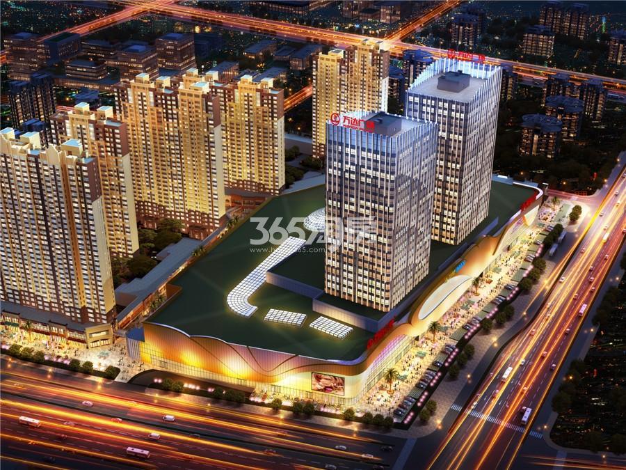 扬州万达广场鸟瞰图