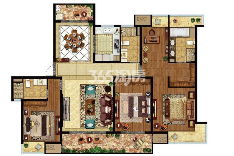 海岸城·郦园9#楼200平户型图