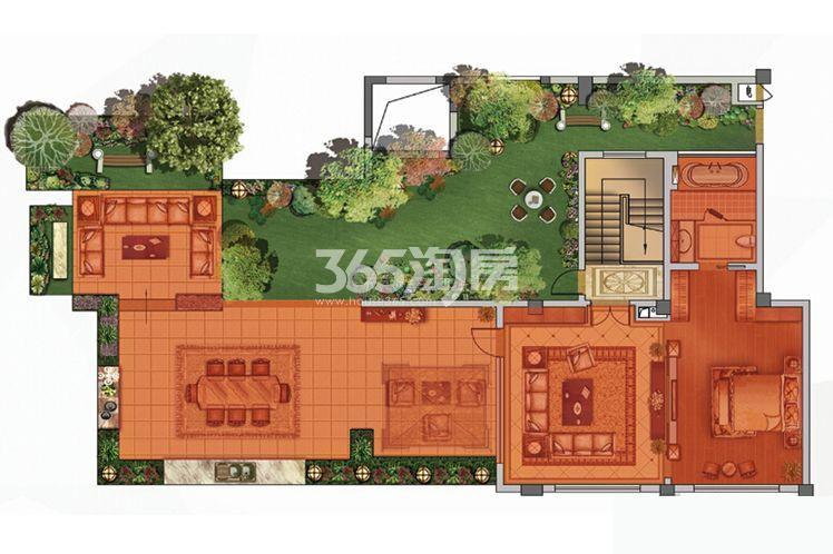 绿地西水东中央生活区洋房4B上户型400平户型图(共2张)