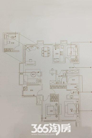 万科未来之光125㎡四室两厅D户型