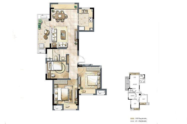 建发独墅湾 高层82#C1户型105㎡