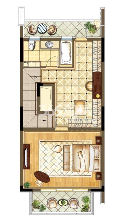 瑞安翠湖山西边02室224㎡C户型3层