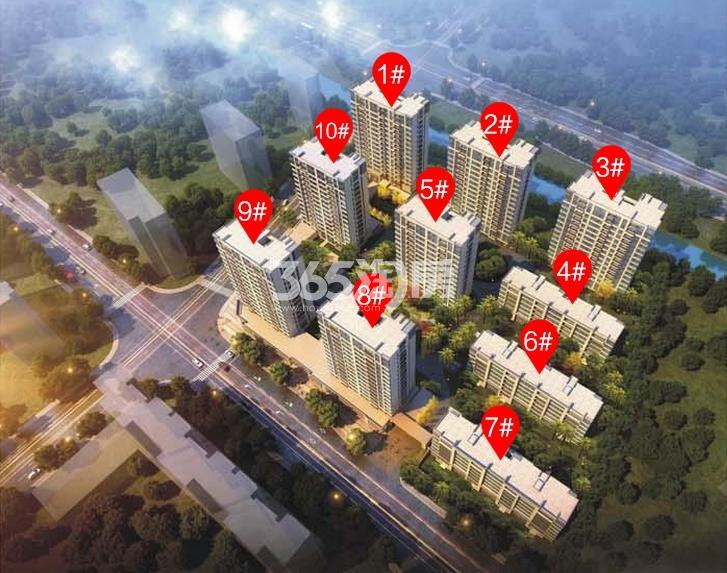 绿都汀蘭府规划公示楼栋分布图