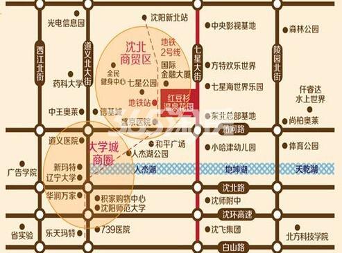 红豆杉温泉花园交通图