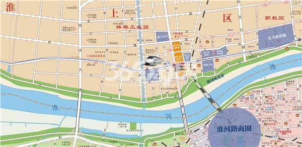 丽景天成(三期紫金苑)交通图