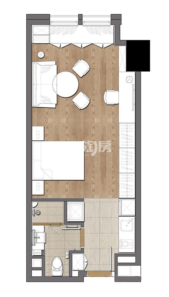 无锡圆融广场36-118平公寓户型