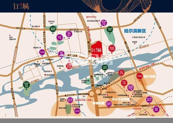华润·中海·江城交通图