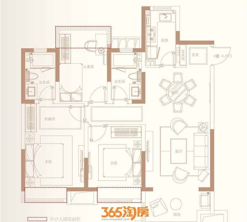 金科海昱东方109㎡G1-1户型图