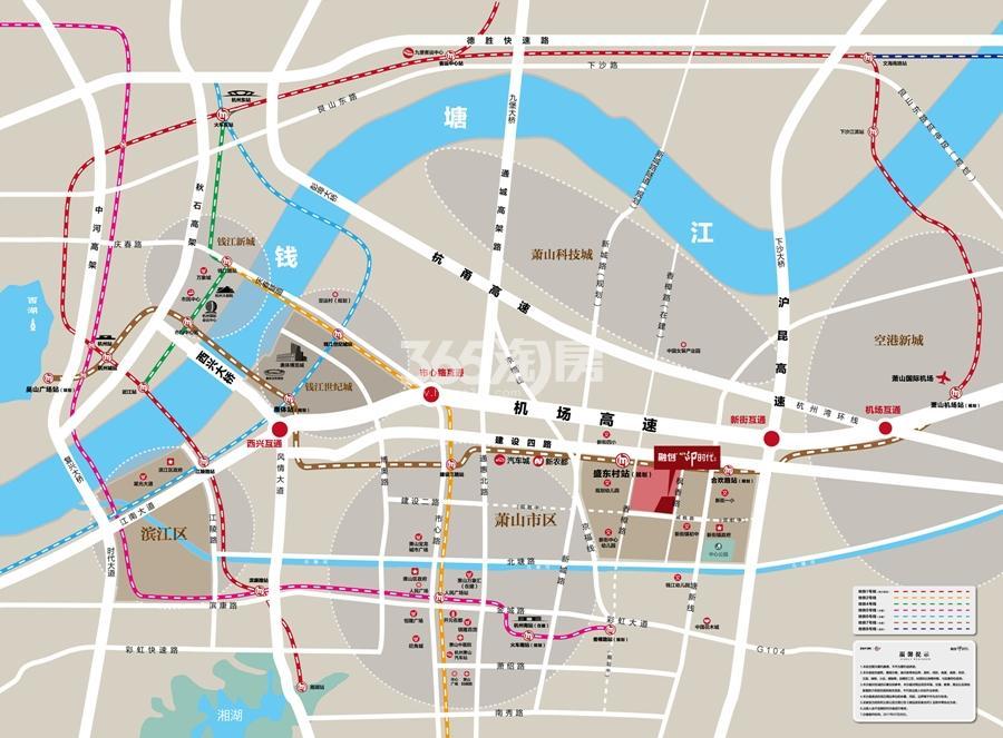 融创印时代交通图