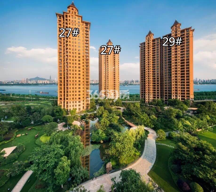 雅居乐滨江国际北纬天幕组团建筑园林实景图(10.15)