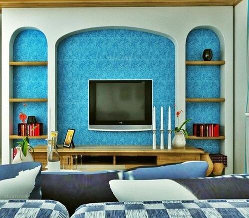 瓷砖电视背景墙效果图_家装大家谈_姑苏茶坊